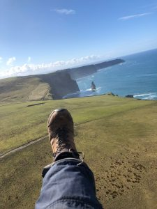 cliffs from a paramotor